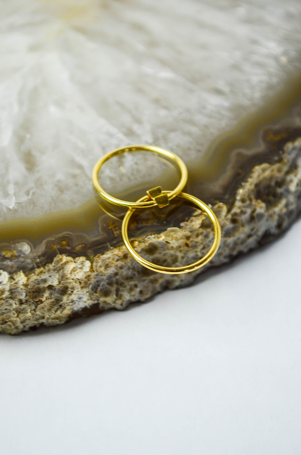 Maria Black Gold Double Ring
