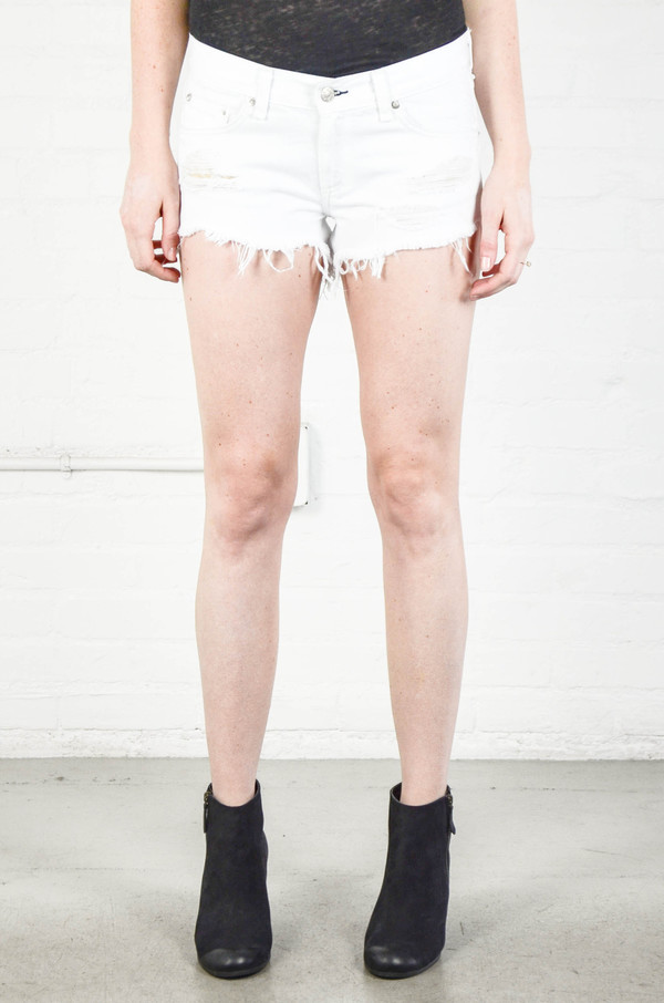 Rag and Bone Cut Off Short in White Marin