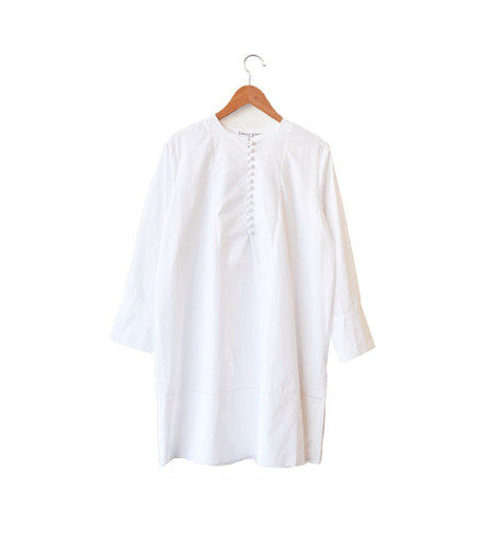 Apiece Apart White Galeana Bib Front Dress