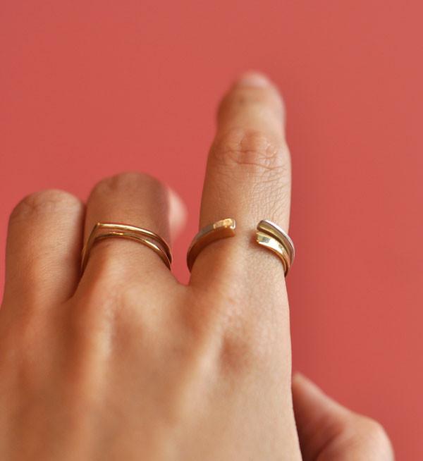 Fay Andrada Brass Isku Stacking Ring