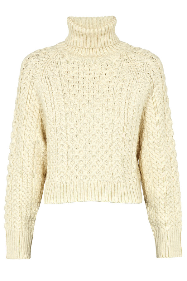 Apiece Apart  Carrine Cream Cropped Rollneck Jumper