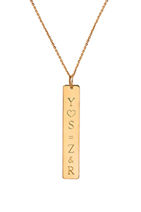 Letters By Zoe - Gold Vertical Name Necklace