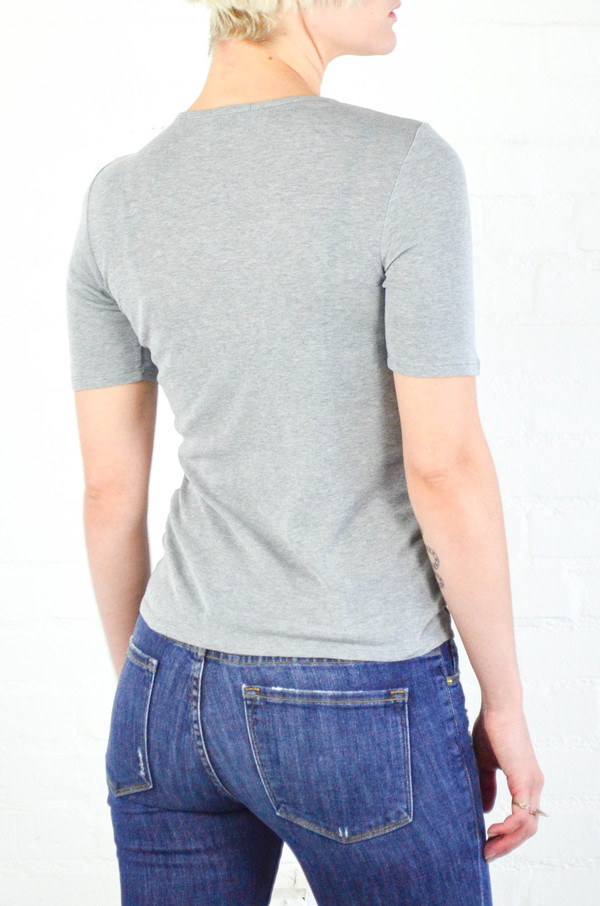 FRAME denim 'Le Fitted' Crew Neck Tee in Gris