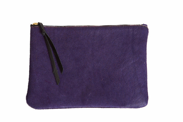 Oliveve queenie purple hair calf