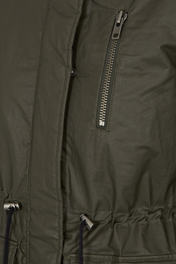 Khaki Green Daphne Parka Coat