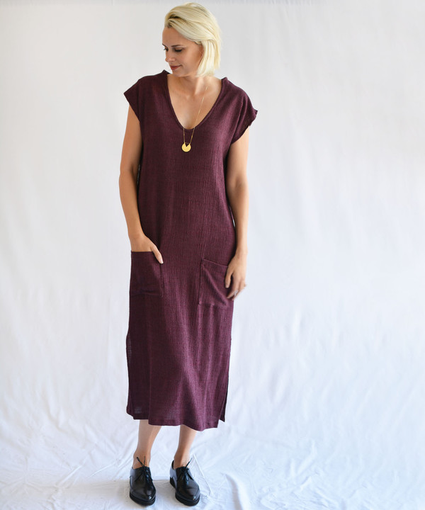 Hai Wine Jubba Dress