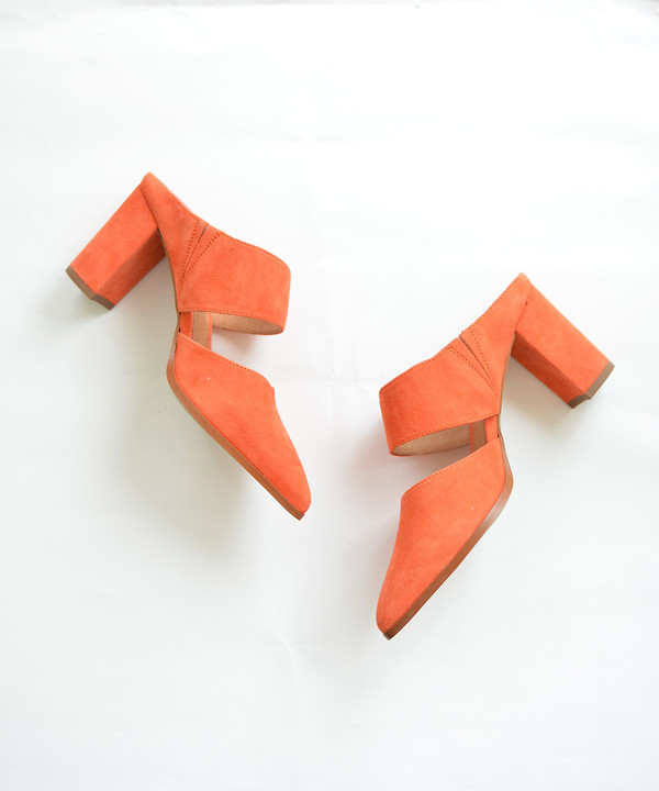 Intentionally Blank Sunset Orange Missy Mule