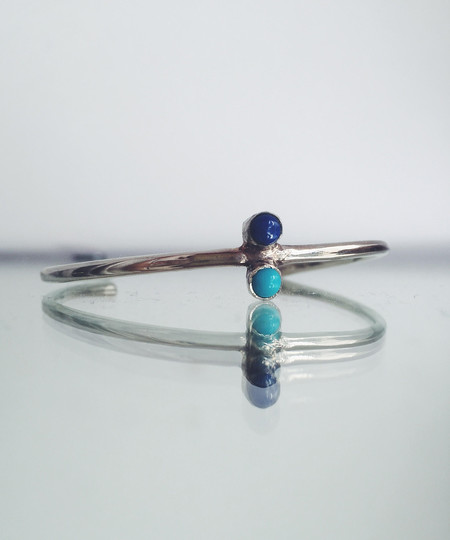Odette New York Odette Turquoise & Lapis Double Aura Cuff