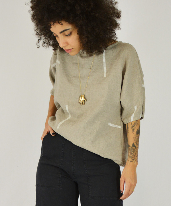 Studio.B Oatmeal Shapes Top