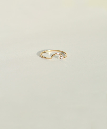 Wwake Arc Diamond Ring