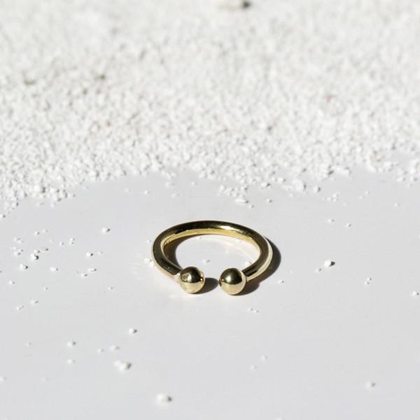 7115 by Szeki Double Sphere Ring J16