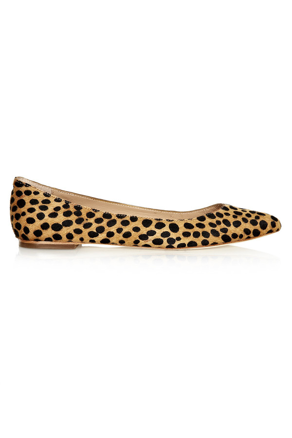 Loeffler Randall - Quinnie Cheetah Haircalf Flat Pump