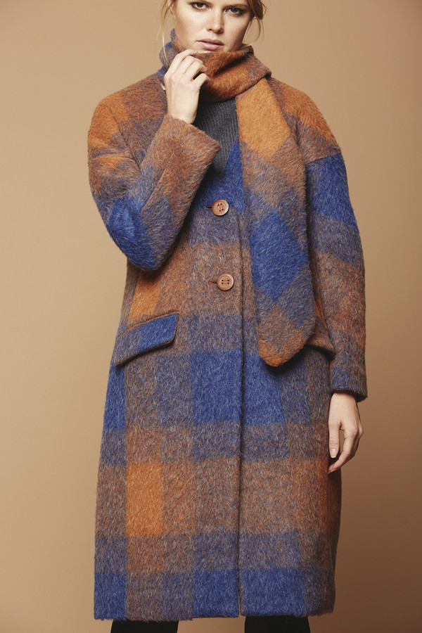 Cosette Clothing Margo Mohair Plaid Coat