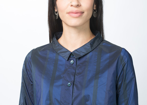 Hudson Striped A-Line Blouse