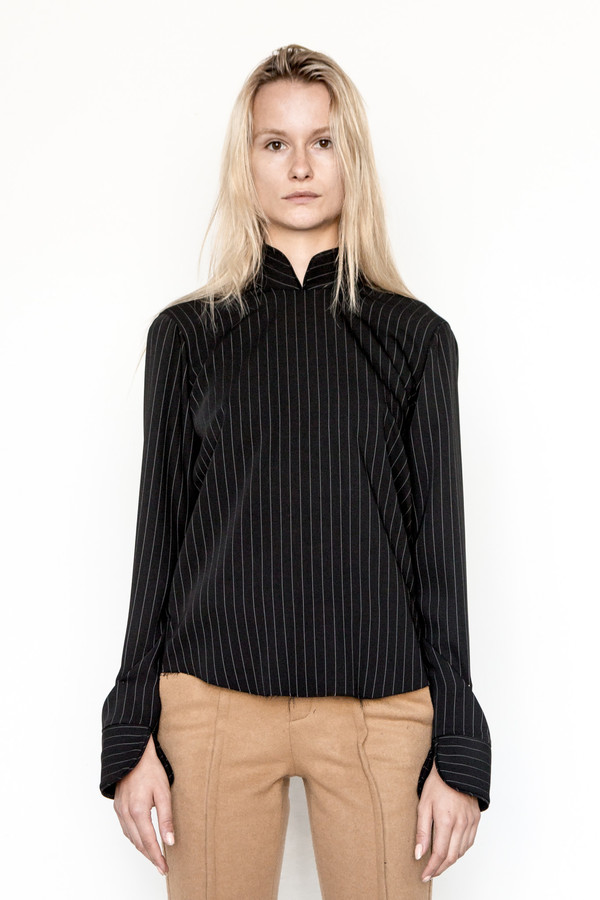Assembly New York Business Stripe Cantonais Top