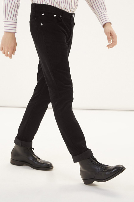 Men's Kitsune Corduroy Slim Cut | Black