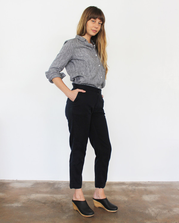 Esby Sam Relaxed Pant- Black Ink