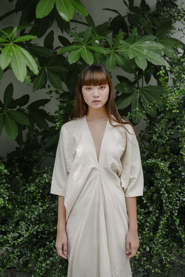 Long Kaftan Dress - Natural