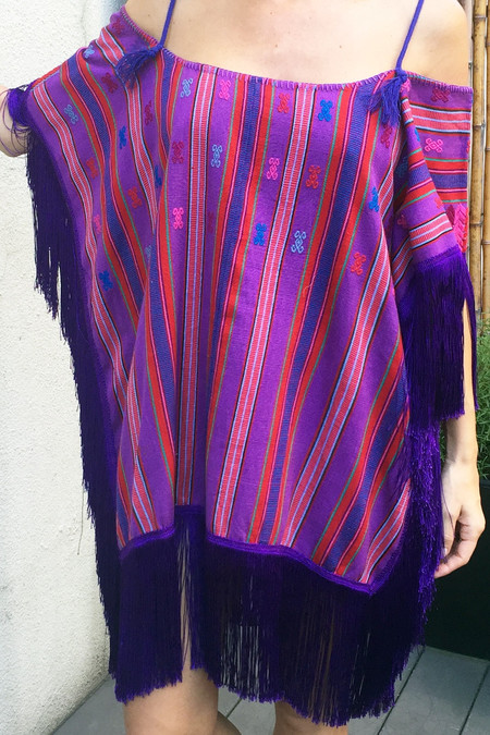 Mexican Huipil - Violet Stripes