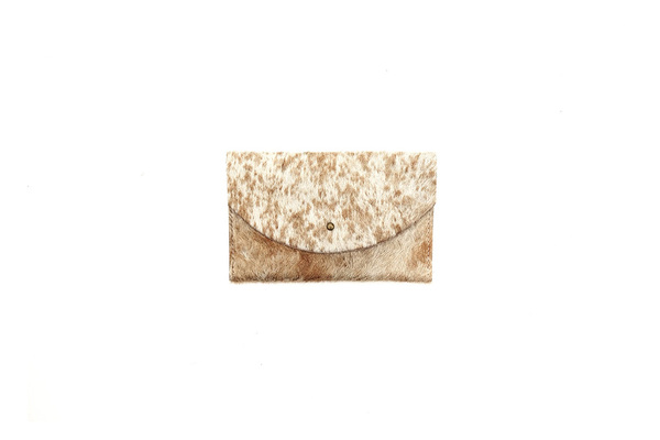 Primecut CARAMEL SPECKLED PASSPORT CLUTCH