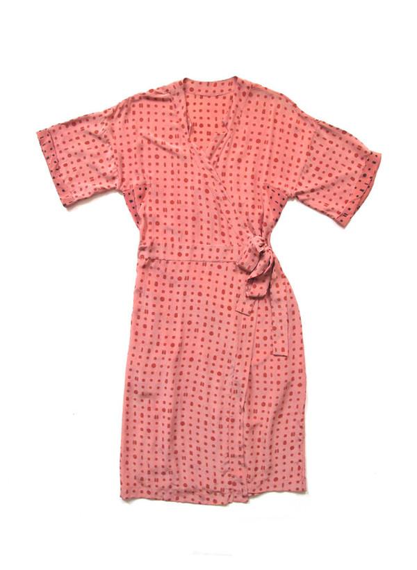 Sample Sale / Robe, pink portals print