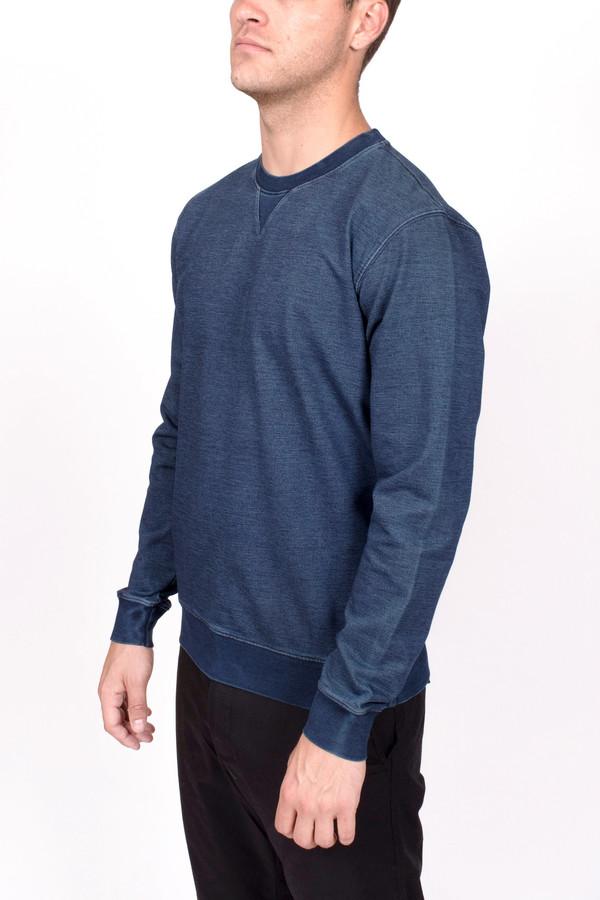 Men's Wood Wood Houston Sweatshirt Denim Indigo