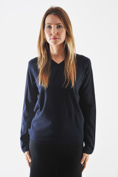 Oyuna Beluga Navy Cashmere Pullover