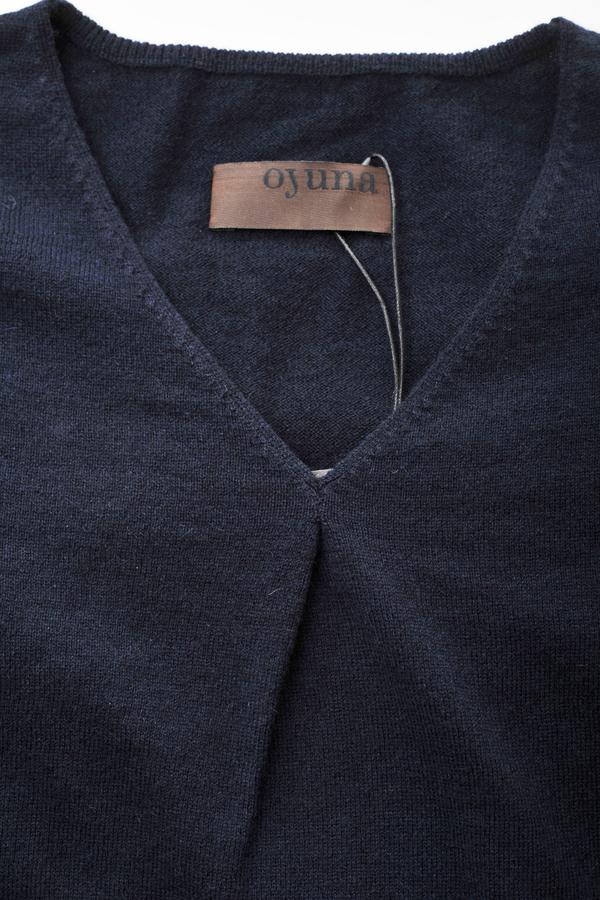 Oyuna Beluga Navy Cashmere Pullover by Oyuna