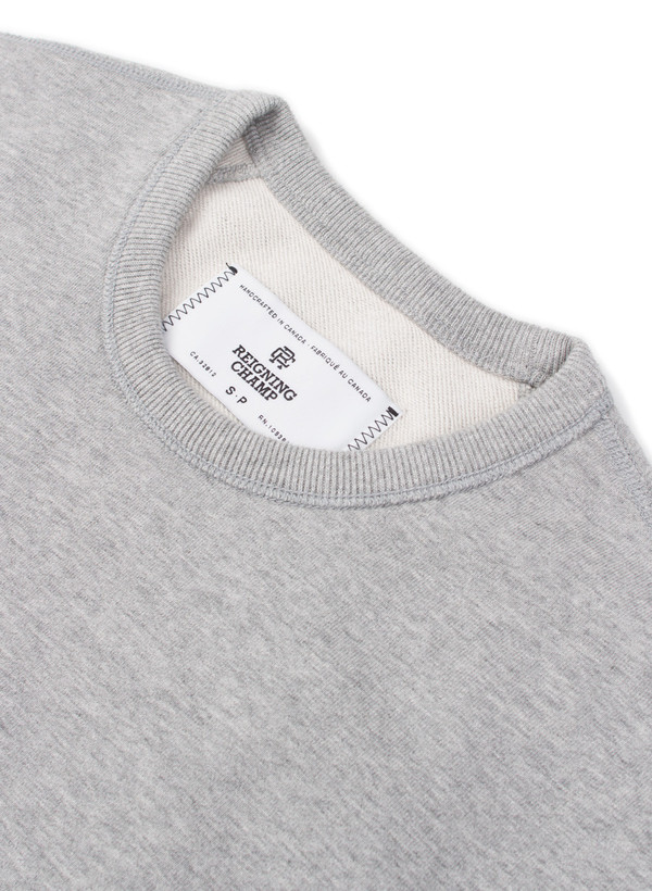 Reigning Champ Midweight Long Sleeve Crewneck Heather Grey