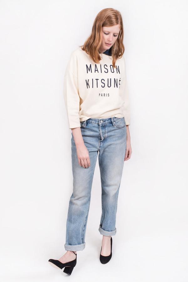 Maison Kitsune Polo Cropped Sweatshirt