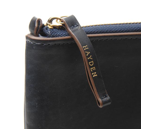 Hayden Leather Navy Portfolio