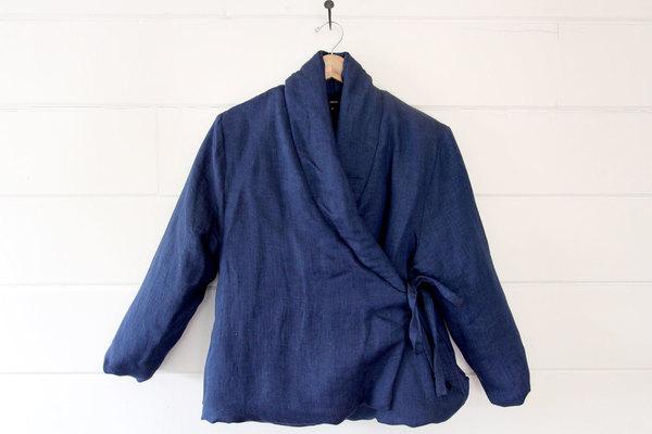 pietsie Gobi Wrap Jacket in Blue Linen