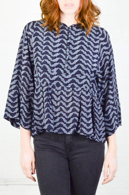 Apiece Apart Thousand Waves Mesa Drape Blouse