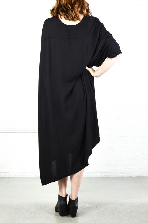 Black Crane Black Dome Dress