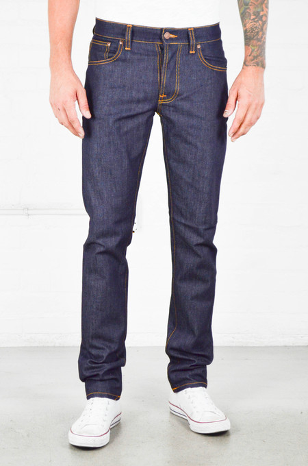 Men's Nudie Grim Tim Dry Open Navy