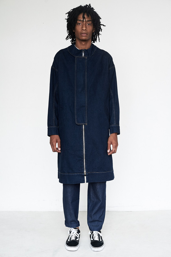 Eckhaus Latta Denim Flasher Coat