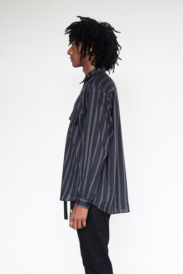Unisex Assembly New York Tencel Stripe Poet Shirt