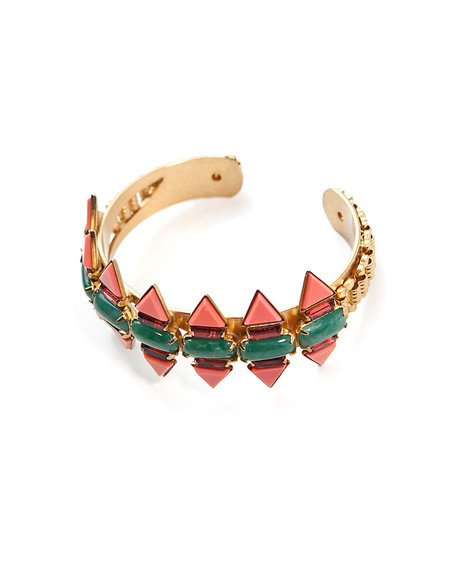 ELIZABETH COLE TRIANGLES CUFF BRACELET