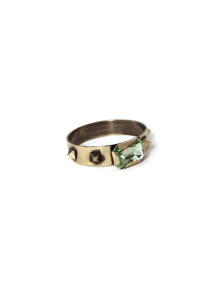 IOSSELLIANI BRASS BANGLE WITH RHINESTONE STUDS