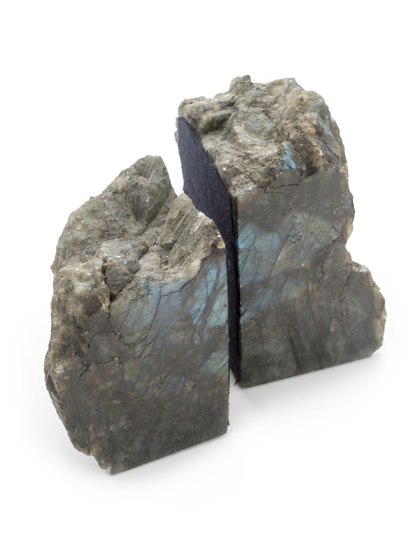ROOST LABRADORITE BOOK END