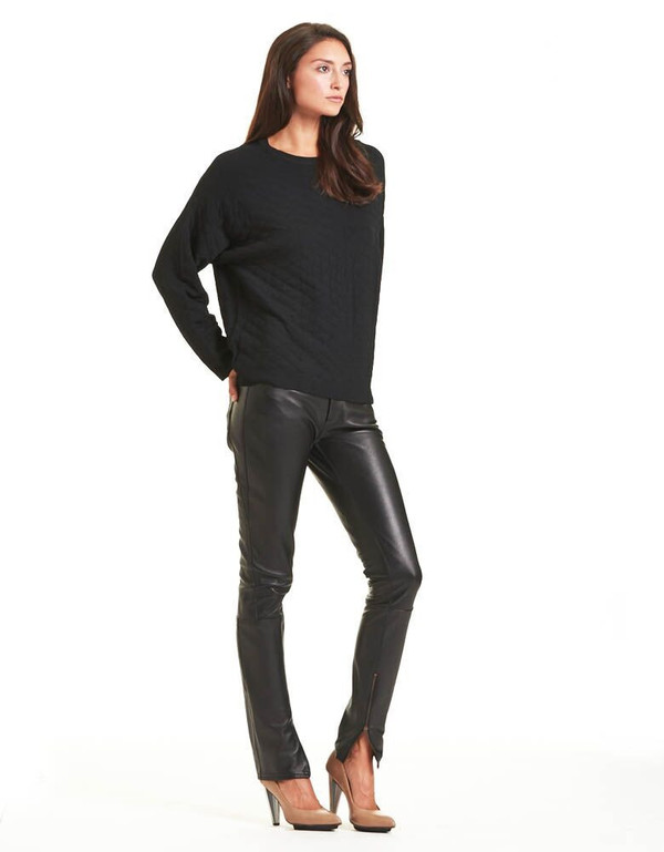 TOME LEATHER PANELED BLACK JEAN