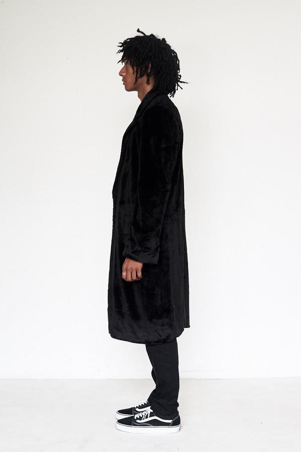 Men's Assembly New York Faux Fur Bruxelles Overcoat