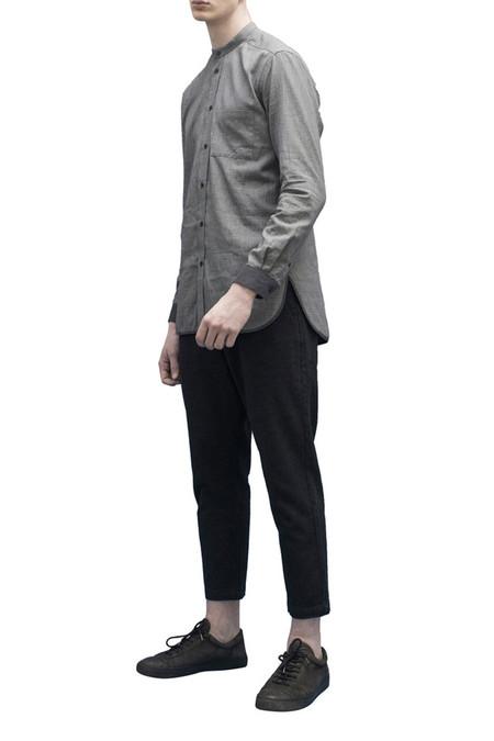 Men's JOURNAL Grove Band Collar | Gray