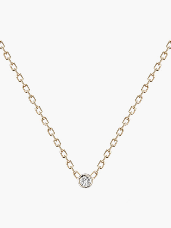 Vale Barely There Single Diamond Necklace