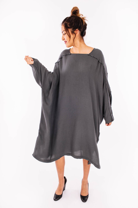 Black Crane Dome Dress (Dark Shadow)