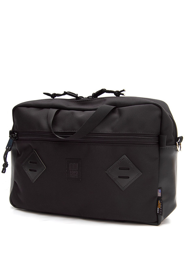 Topo Designs Mountain Briefcase Ballistic Black Leather