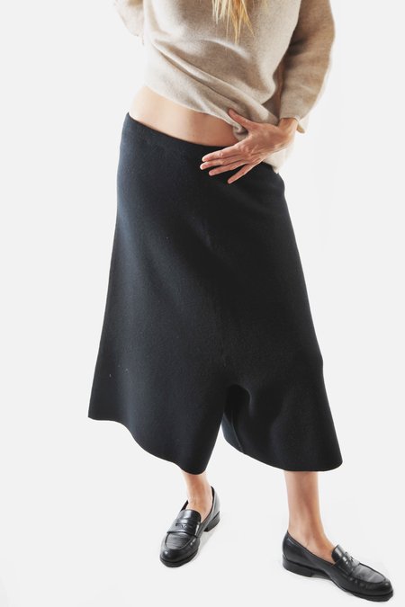 Black Knit Karam Trousers by Oyuna