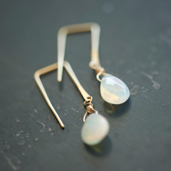Sierra Winter Sunset Earrings Opal