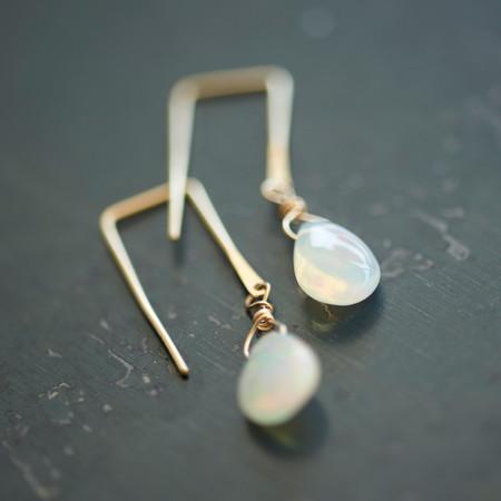 Sierra Winter Sunset Earrings Opal