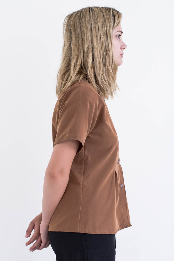 REIFhaus Gather Blouse in Sienna